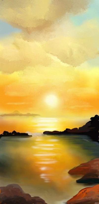 Sunset  | Hanne | Digital Drawing | PENUP