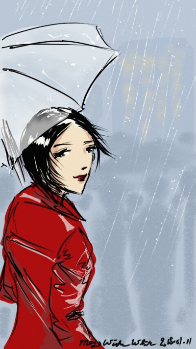 Lady in Red | MayWinterWhite | Digital Drawing | PENUP