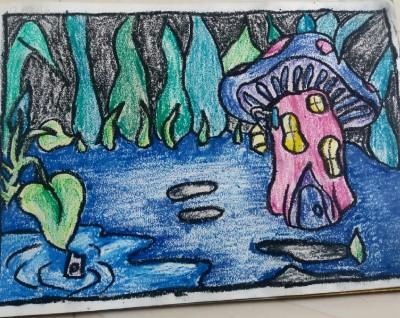 mushroom house | Ishrah_khan.T | Digital Drawing | PENUP