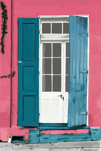 NOLA Door | Lor-Van | Digital Drawing | PENUP