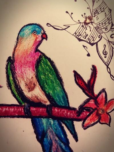 Bird music | Ishrah_khan.T | Digital Drawing | PENUP