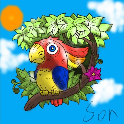 A bird on tree | Shawn | Digital Drawing | PENUP