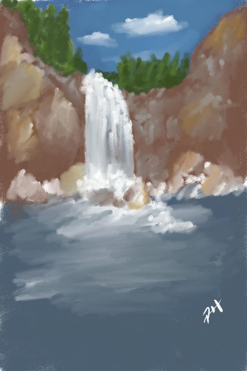Waterfall Retreat   PhillipHanson   Artwork   PENUP