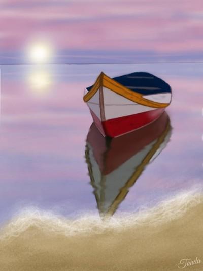 Sunset On The Beach | Tonda | Artwork | PENUP
