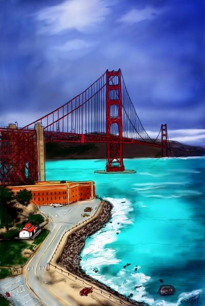 Golden Gate Bridge California | missdarrian | Artwork | PENUP