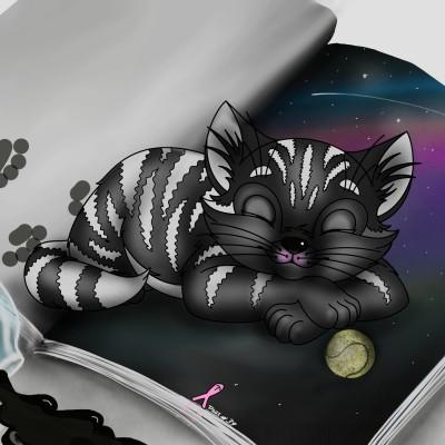 CAT ON THE BOOK | ramdan1111 | Artwork | PENUP