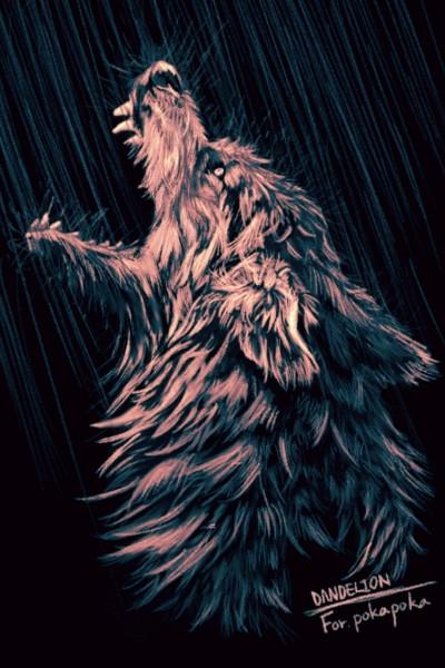 <Wolf > For. my dear friend @pokapoka ♡ | -DANDELION- | Artwork | PENUP