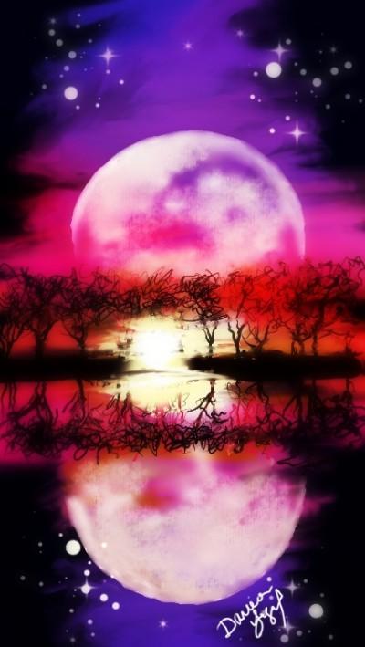 Scenic Moonrise | missdarrian | Artwork | PENUP