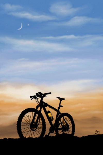 A bicycle with an infinite sky :) | Sina | Digital Drawing | PENUP