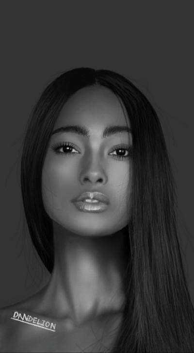 Black    -DANDELION-   Digital Drawing   PENUP