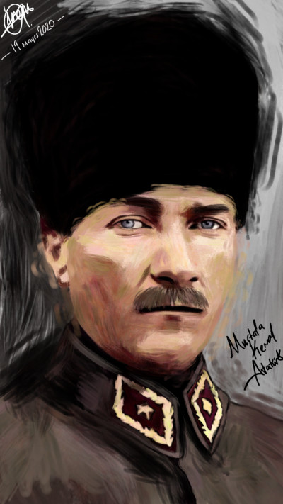 Mustafa Kemal Atatürk ❤️❣️⭐ | IREM.Aksoy | Digital Drawing | PENUP