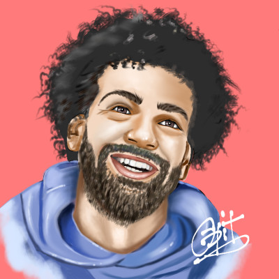 Mo Salah the LFC Hero | opit | Digital Drawing | PENUP